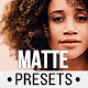 Matte Blogger Presets for Lightroom & ACR - GraphicRiver Item for Sale