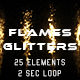 Flames and Glitters