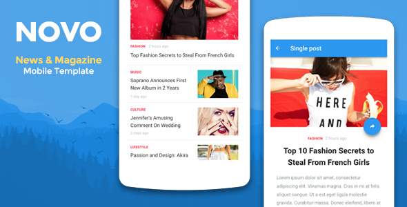 Novo – News & Magazine Mobile Template