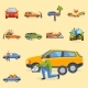 Car Crash Collision Traffic Insurance Safety - GraphicRiver Item for Sale
