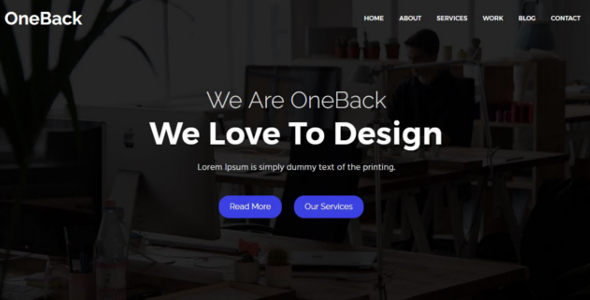 OneBack - One Parallax Business Template