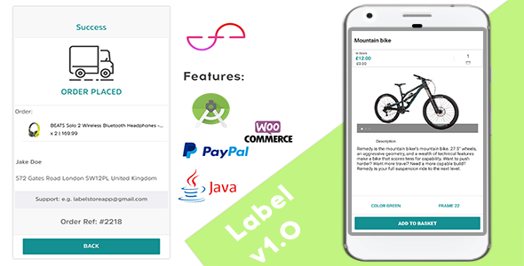 Label - Creative Android App For Woocommerce Stores - Java - CodeCanyon Item for Sale
