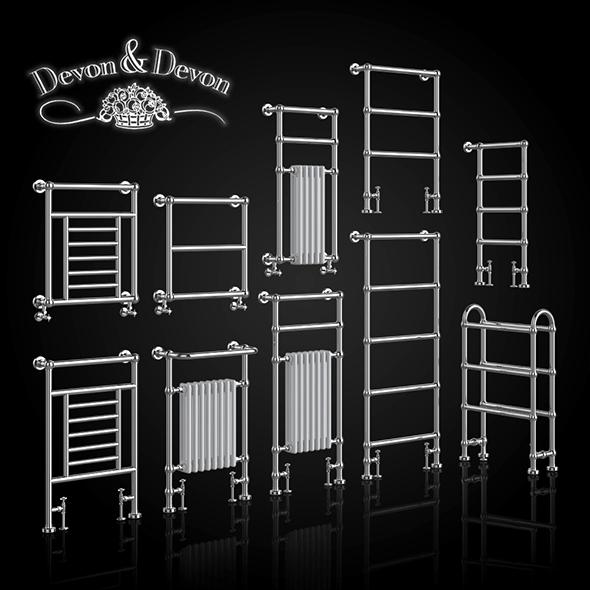 3DOcean A set of heated towel rails Devon Devon 20790585