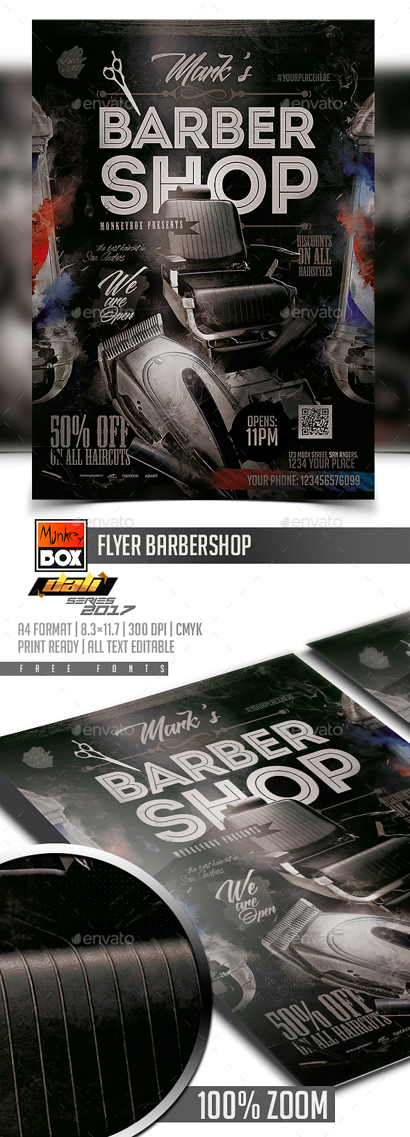 Flyer Barbershop - Flyers Print Templates