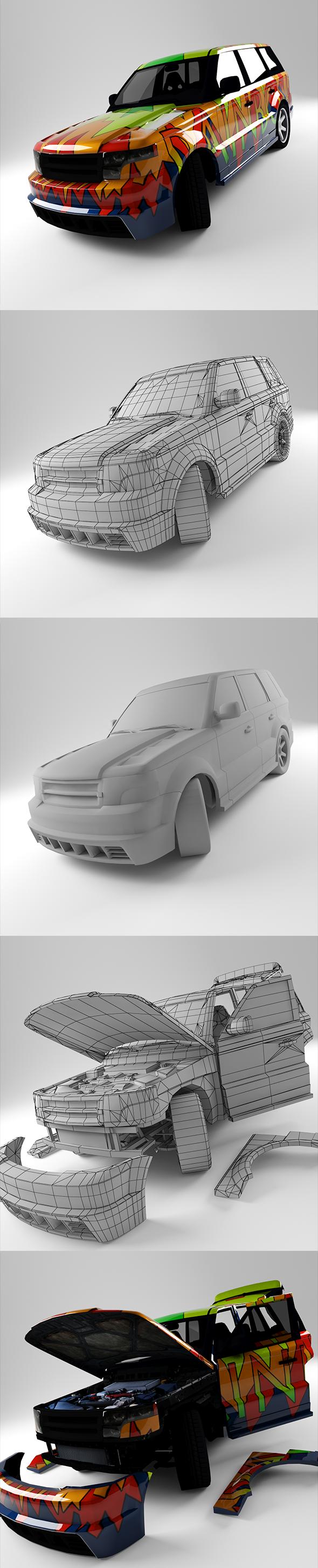 Range Rover Sport - 3DOcean Item for Sale