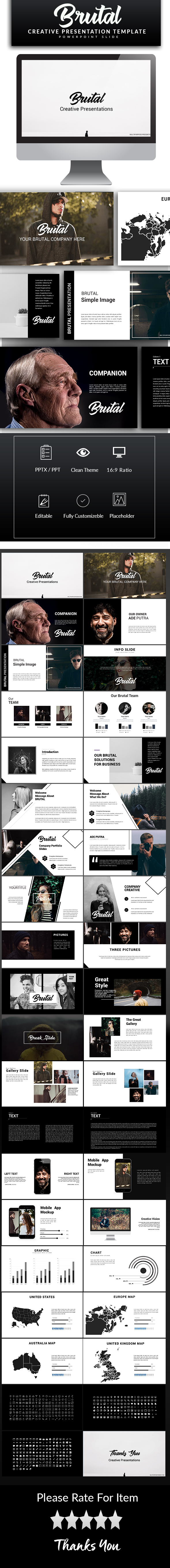 GraphicRiver Brutal Powerpoint Template 20790711