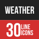 Weather Filled Line Icons