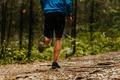 Male runner athlete running