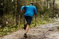 Muscular male runner