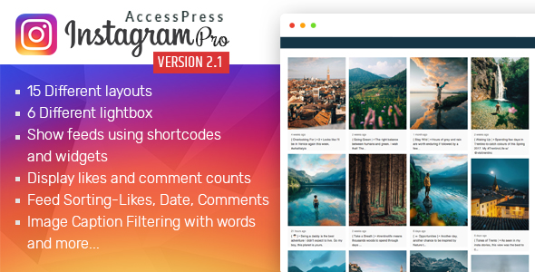 AccessPress Instagram Feed Pro - CodeCanyon Item for Sale
