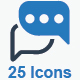 Message and Communication Icons - Blue Version