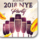 2018 NYE Party Flyer Template