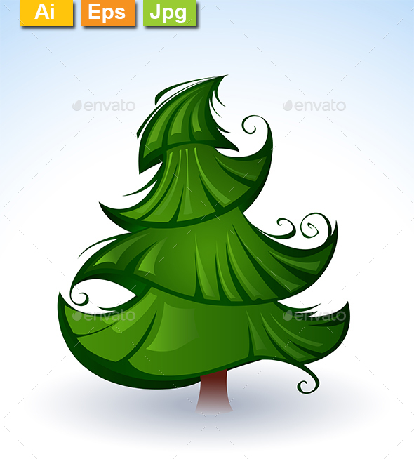 Green Christmas Tree - Christmas Seasons/Holidays