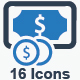 Money Stacks Icons_ Blue Version