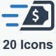 Money Transaction Icons - Blue Version