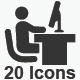 Office Icons - Gray Version