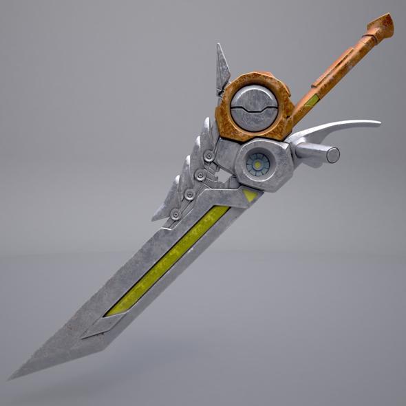 3DOcean Fantasy sword 8 20791293