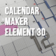 Calendar Maker Element 3D - VideoHive Item for Sale