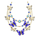 Necklace with Sapphire Butterflies