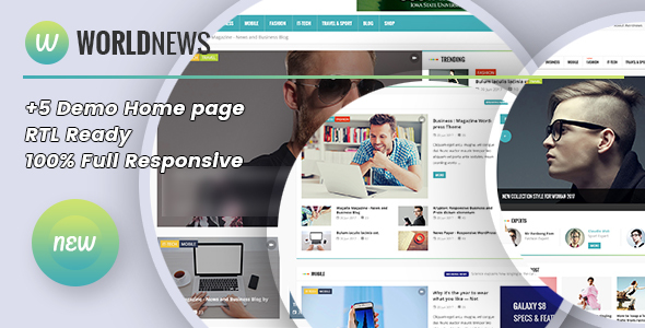 WorldNews - Magazine  RTL Responsive WordPress BlogMagazine Free Templates
