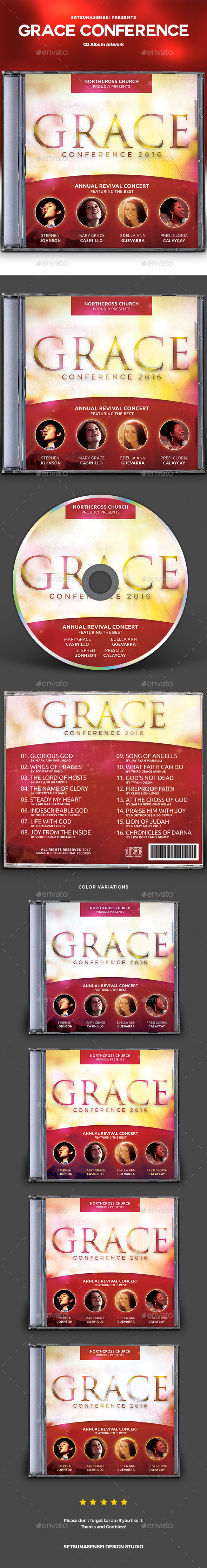 Grace Conference CD Album Artwork - CD & DVD Artwork Print Templates