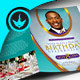 Royal Teal Pastor Birthday Party Program Template