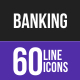 Banking Line Inverted Icons