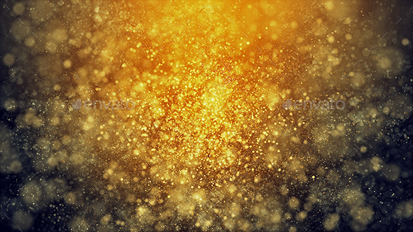 Golden Magical Particles Backgrounds - Abstract Backgrounds