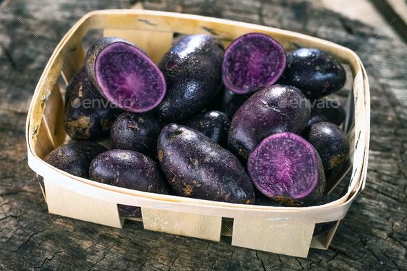 Purple Potatoes - Stock Photo - Images