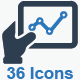Online Business Report Icons - Blue Version