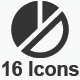 Pie Chart Icons - Gray Version
