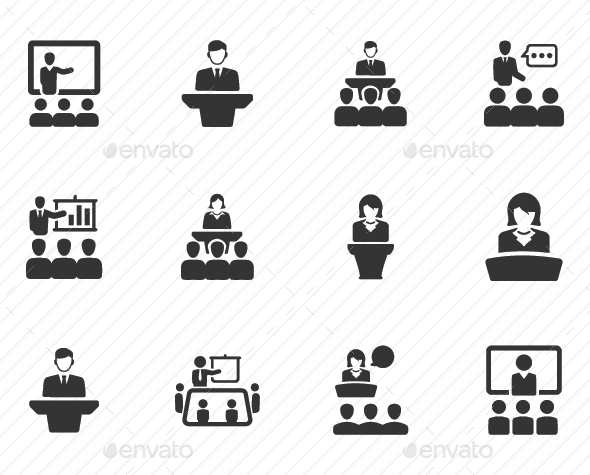 Presentation Icons - Gray Version - Web Icons