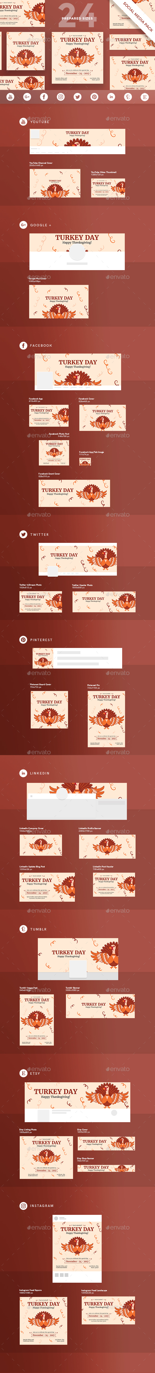 GraphicRiver Turkey Day Social Media Pack 20792428