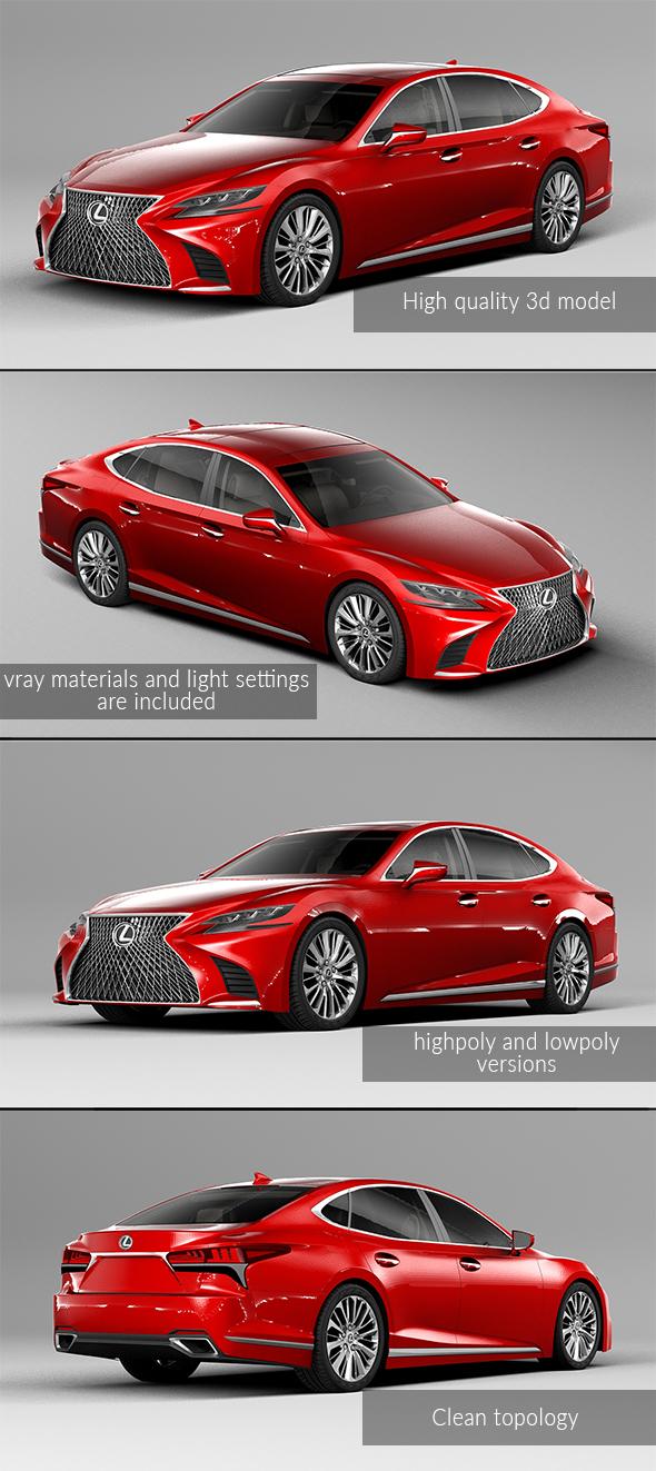 3DOcean Lexus LS 500 2018 20792436
