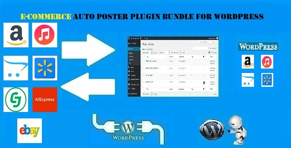 E-Commerce Auto Poster WordPress Bundle by CodeRevolution