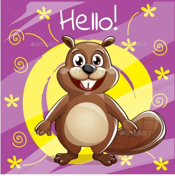 GraphicRiver Cartoon Beaver 20792543