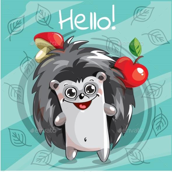 Cartoon Hedgehog - Animals Characters
