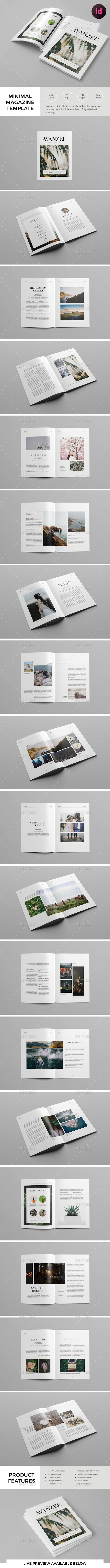 Minimal Magazine Template by tontuz | GraphicRiver