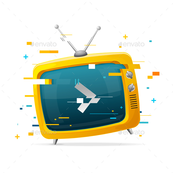 GraphicRiver Retro TV Broadcasting Concept Glitch Style 20792600
