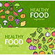 Healthy Foods Eco Shop Banner Set