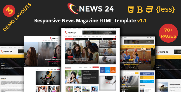 Image of News24 - News Magazine Responsive HTML Template