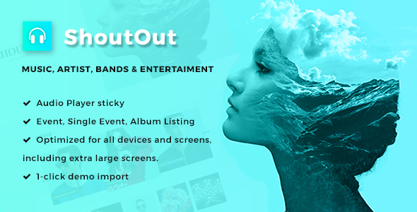 Download ShoutOut - A Clean WordPress Music Theme