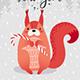Christmas Animals Card Set