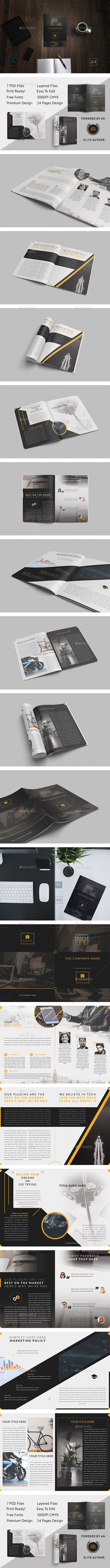 Brochure - GoDesign Bi-Fold Template - Brochures Print Templates