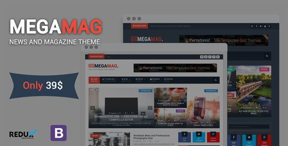 ThemeForest MegaMag News and Magazine WordPress Theme 20625847