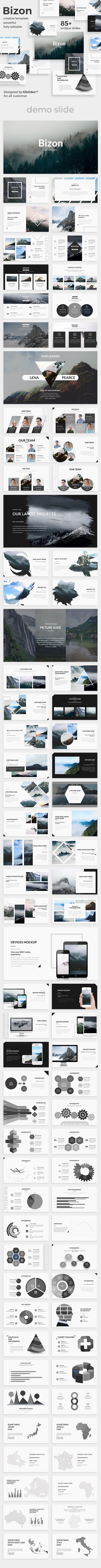 Bizon Creative Keynote Template - Creative Keynote Templates