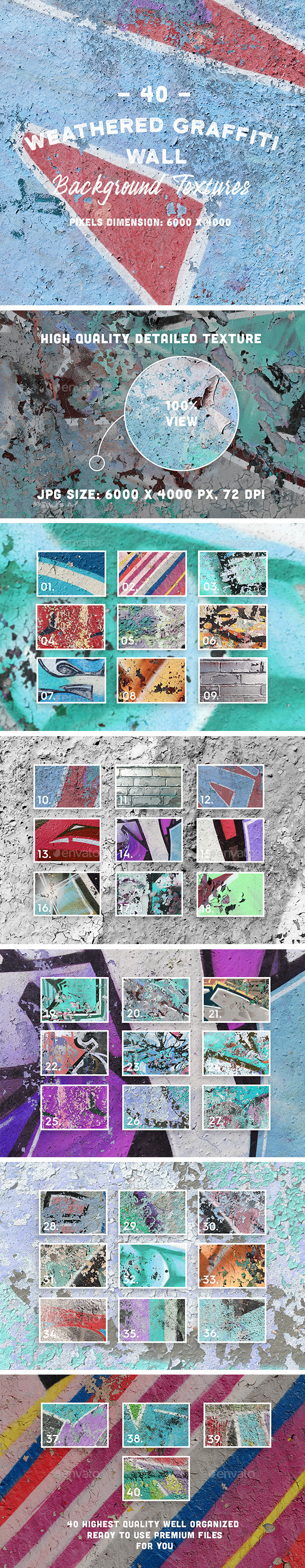 GraphicRiver 40 Weathered Graffiti Wall Background Textures 20792786
