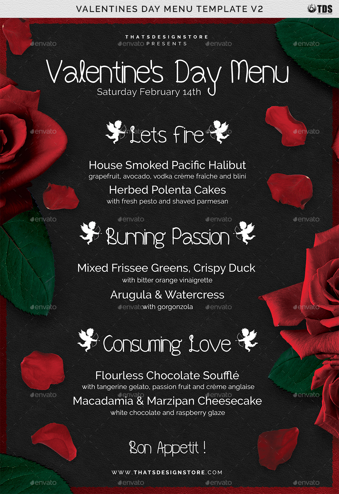Valentines Day Menu Template V2 By Lou606 Graphicriver