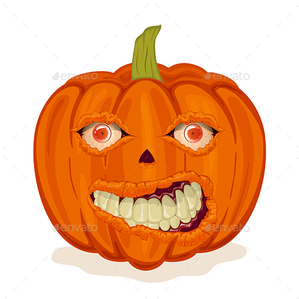 Pumpkin with Smile and Eyes - Halloween Seasons/Holidays