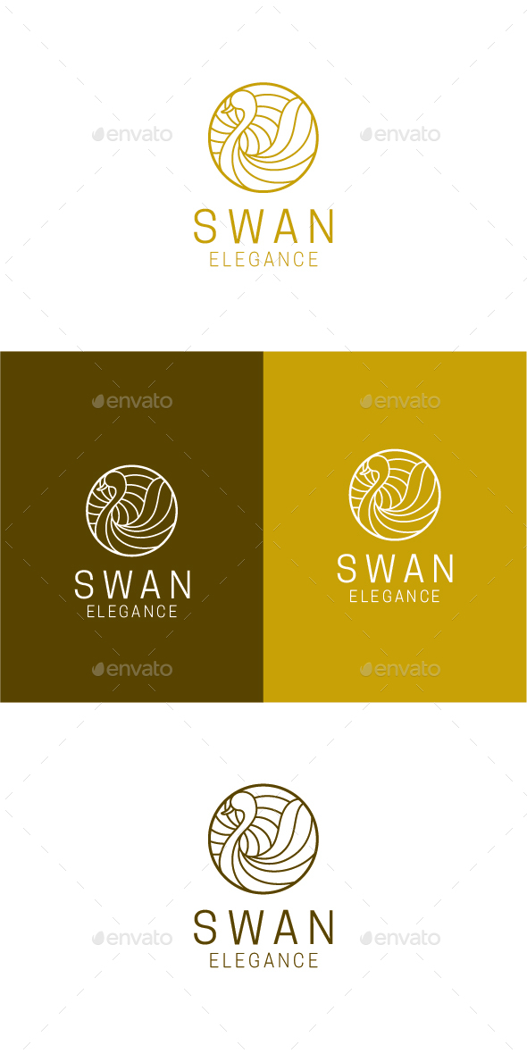 Swan Elegance - Animals Logo Templates